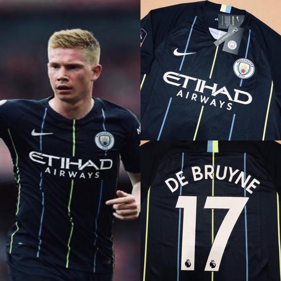 big sale 1286f 4ecd5 Kevin De Bruyne #17 Manchester City Soccer Jersey NWT